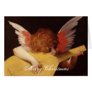 Anjo musical cartão comemorativo