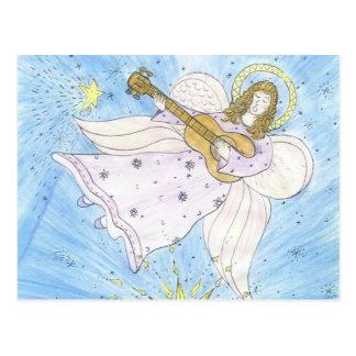 Anjo musical cartão postal