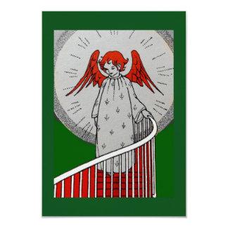 Anjo na parte superior das escadas convite 8.89 x 12.7cm