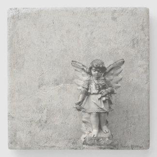 Anjo na pedra/porta copos de mármore porta copos de pedra