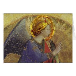 Anjo no ouro cartão comemorativo