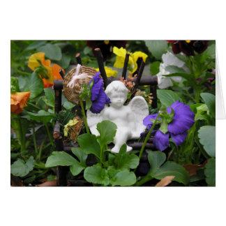 Anjo Notecards do jardim Cartão