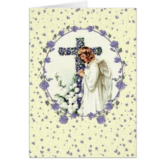 Anjo Praying do vintage. Cartões de páscoa