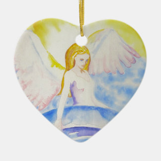 Anjo que cura o ornamento do coração do planeta