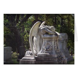 anjo weeping cartão