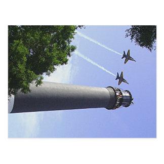 Anjos azuis sobre o farol de Pensacola Cartão Postal