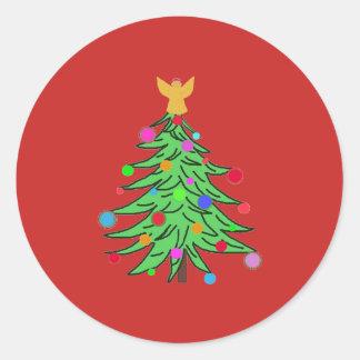 Anjos de ChristmasTree das etiquetas do Natal
