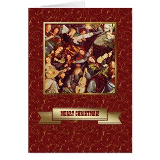 Anjos do arauto Cartões de Natal religiosos das