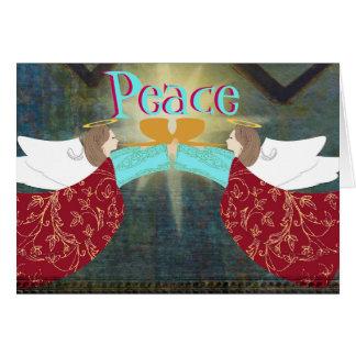 Anjos do cartão de Natal da paz