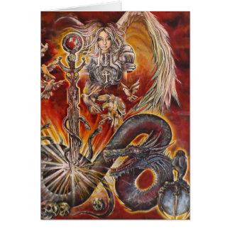 Anjos e dragões cartão
