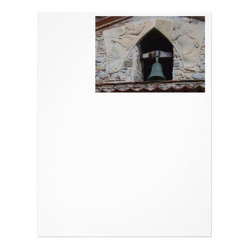Anjos em torno de uma igreja Bell Papéis De Carta Personalizados