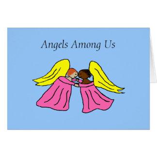 Anjos entre nós - cartão de cartões de natal