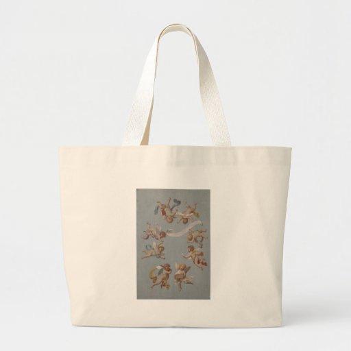 Anjos lunáticos do querubim do renascimento bolsas de lona