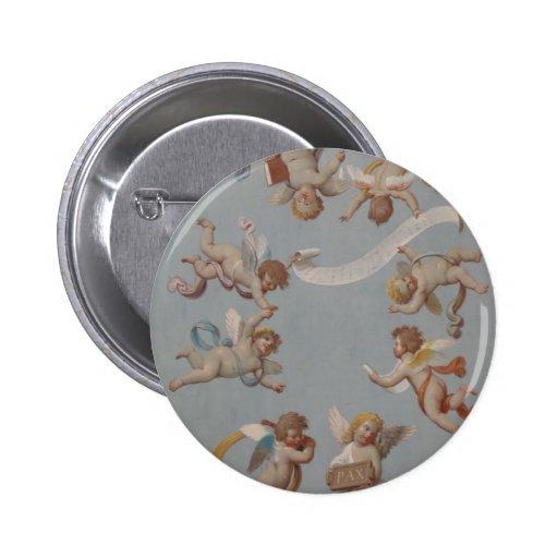 Anjos lunáticos do querubim do renascimento botons