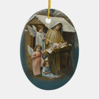 Anjos, Madonna e enfeites de natal de Jesus do