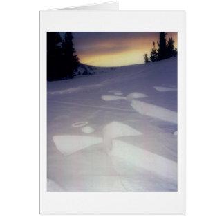 Anjos no por do sol cartão comemorativo
