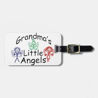 Anjos pequenos das avós tag de mala