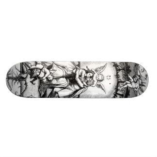 Anjos Playng em torno do casal dos namorados Shape De Skate 18,4cm