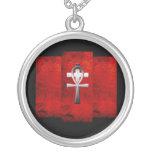Ankh e cruz pingentes