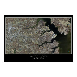 Annapolis Maryland da arte do satélite do espaço Poster