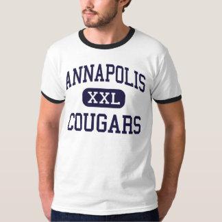 Annapolis - pumas - alto - alturas de Dearborn Tshirts