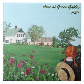 Anne azulejo cerâmico da foto dos frontões verdes