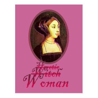 Anne Boleyn - cartão da mulher
