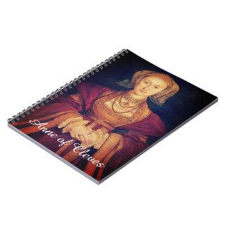 Anne do caderno espiral de Cleves