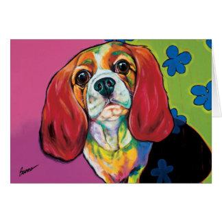 Annie o cartão de nota do cão da terapia por