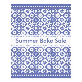 Annoucements azul e branco da venda do assar do pa panfleto personalizados