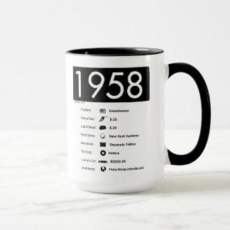 ano 1958-Great (15 onças.) Caneca de café