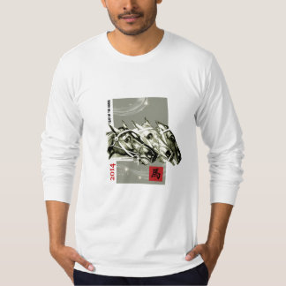 Ano chinês da camisa do jérsei do cavalo t-shirt