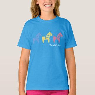 Ano chinês das camisas do cavalo camiseta