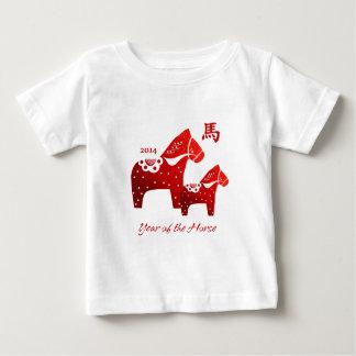 Ano chinês do t-shirt da criança do cavalo