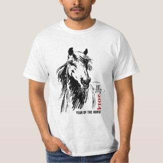 Ano chinês do t-shirt do cavalo