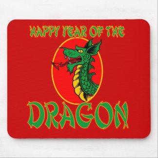 Ano chinês dos desenhos animados do dragão mouse pads