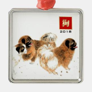 Ano chinês dos ornamento 2018 do presente do cão