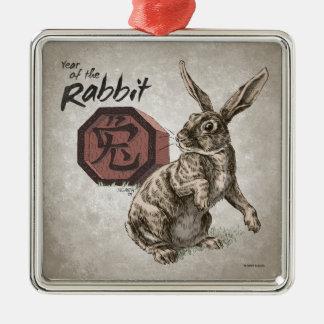 Ano da astrologia chinesa do zodíaco do coelho enfeites para arvores de natal
