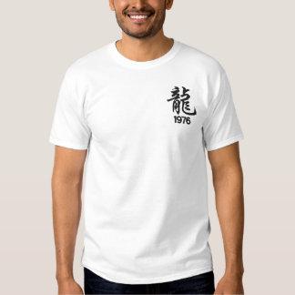 Ano da camisa bordada do dragão 1976