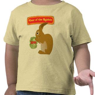 ano da camisa da criança do coelho t-shirts