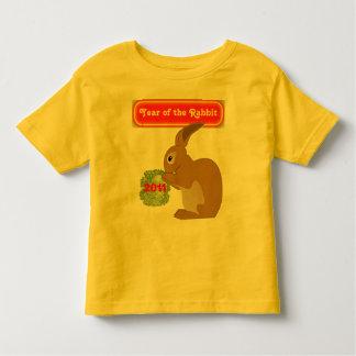ano da camisa da criança do coelho t-shirt