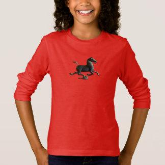 Ano da camisa da menina do cavalo