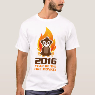 Ano da camisa do macaco T do fogo