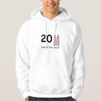 Ano da camisola 2011 da orelha de coelho do coelho moletom