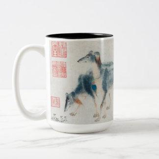 Ano da caneca da pintura chinesa do cão 2018