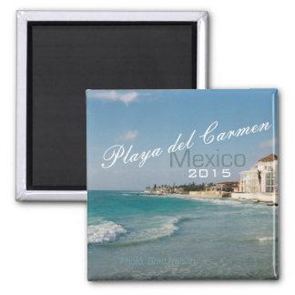 Ano da mudança do ímã da praia de México do Playa Ímã Quadrado