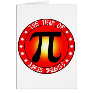 Ano de Pi 3/14/15 de 9:26: 53 Cartão Comemorativo