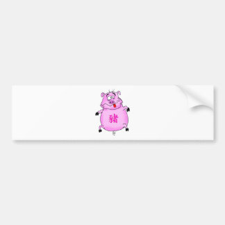 Ano de PiggyBo de porco Adesivo Para Carro