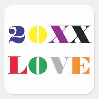 Ano do amor - etiqueta quadrada