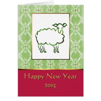 Ano do cartão chinês do ano novo dos carneiros